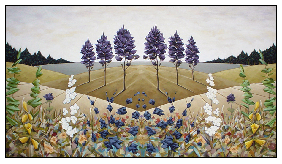 Dream Field  44″ x 62″  Oil/Sand on Canvas