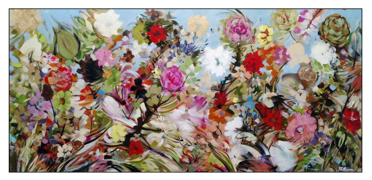 Life Is Good - 21x45 Oil-mixed media on canvas by David Patterson