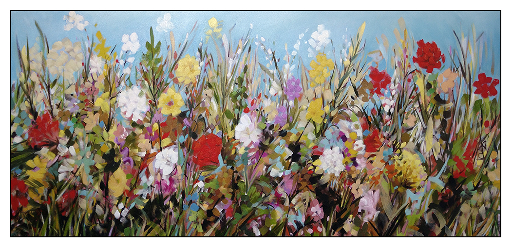 New Life - 21x47 Oil-mixed media on canvas by David Patterson